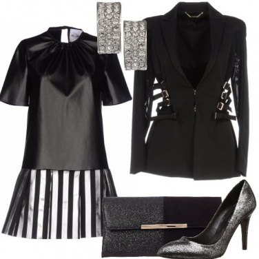 Outfit Mixa il nero all\'argento