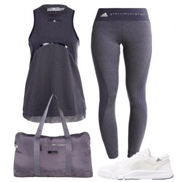 Outfit Fitness in grigio