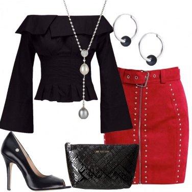Outfit La minigonna rossa