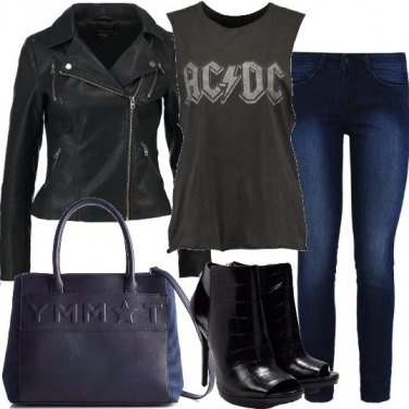 Outfit Rock con tacco