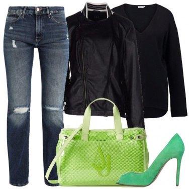 Outfit Tacchi verdi