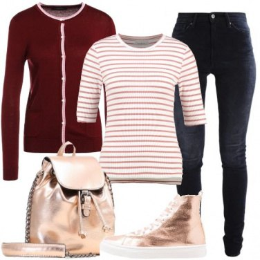 Outfit Cardigan e t-shirt