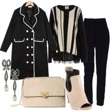 Outfit Sfumature in bianco e nero