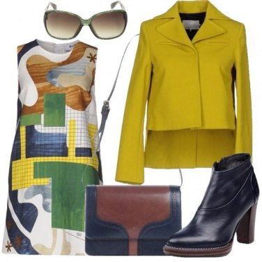 Outfit Vestito corto geometrico