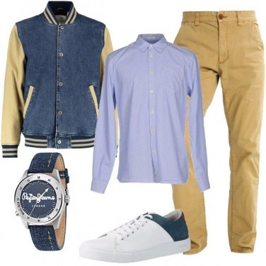 Outfit Il bomber di jeans