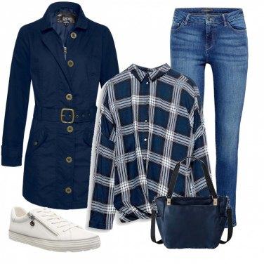 Come abbinare il cappotto con zip blu: 96 Outfit Donna