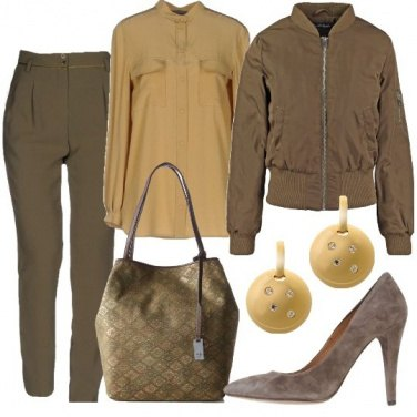 Outfit Il bomber militare