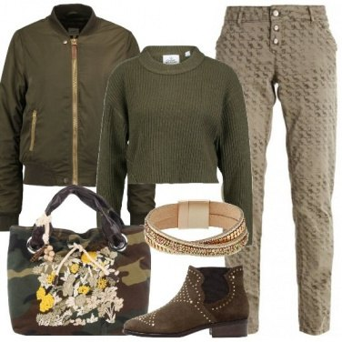 Outfit Comoda in verde