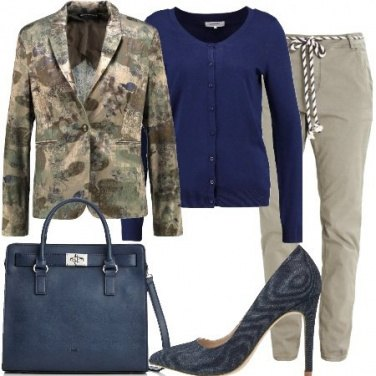 Outfit Military in ufficio