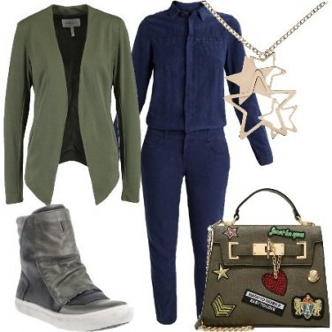 Outfit Military in giacca