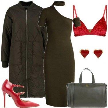 Outfit Verde militare e rosso