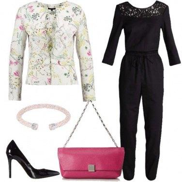 Outfit Il blazer di cotone a fiori