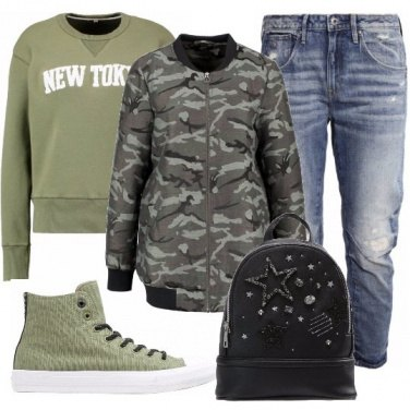 Outfit Bomber camouflage