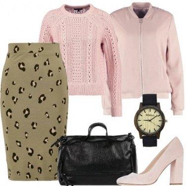 Outfit Rosa e maculato