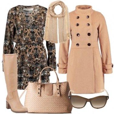 Outfit Gli stivali color crema