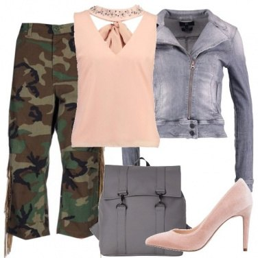 Outfit Colori soft e fantasie strong
