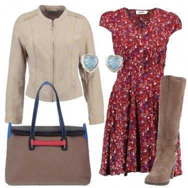 Outfit Mini abito a fantasia