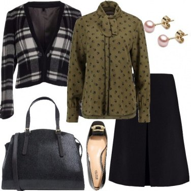 Outfit Seta e lana