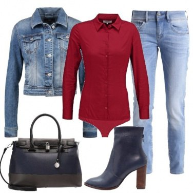 Outfit Rosso jeans