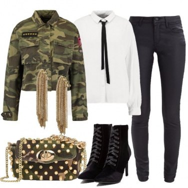 Outfit Serata in military