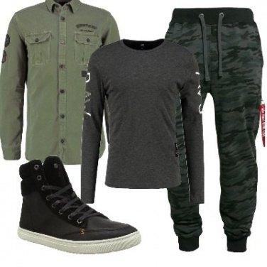 Outfit La camicia military