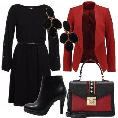 Outfit Nero e rosso