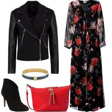 Outfit Il maxi abito floreale