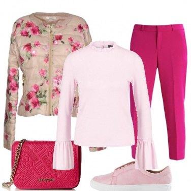 Outfit I fiori fucsia