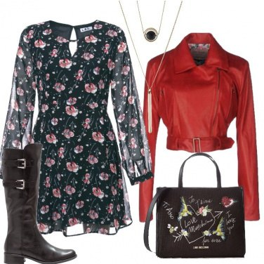 Outfit Il biker rosso