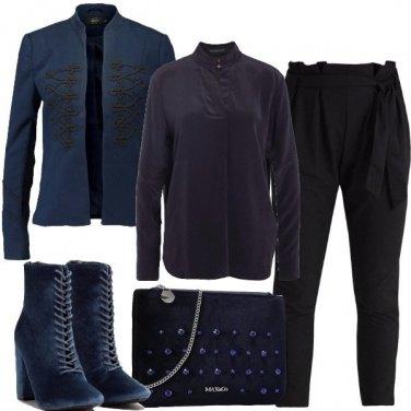 Outfit Blu e nero notte