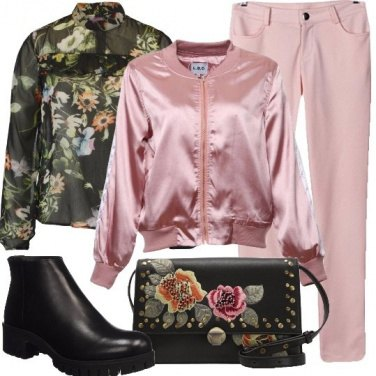 Outfit Fioriture di rosa