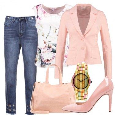 Outfit Fiori rosa e bambù