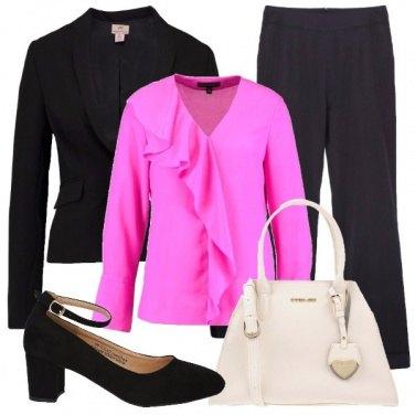 Outfit Rosa in ufficio