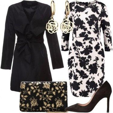 Outfit Bianco nero e oro
