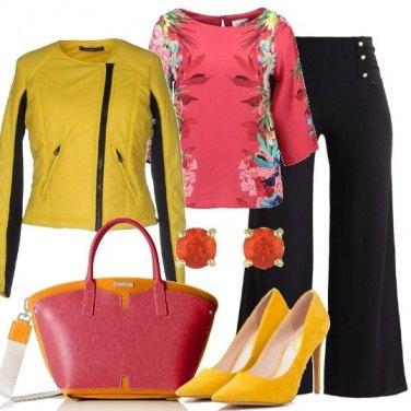 Outfit Il biker giallo