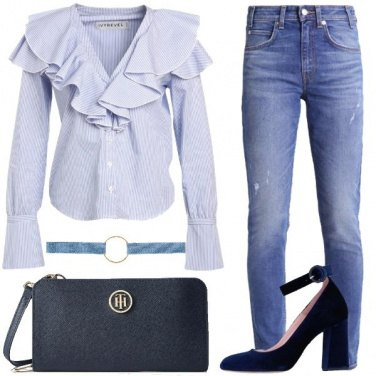 Outfit I jeans a vita alta