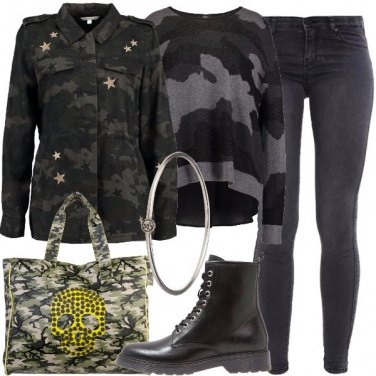Outfit Militare rock