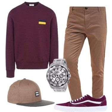 Outfit Color melanzana