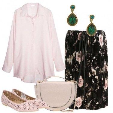 Outfit La gonna con le rose