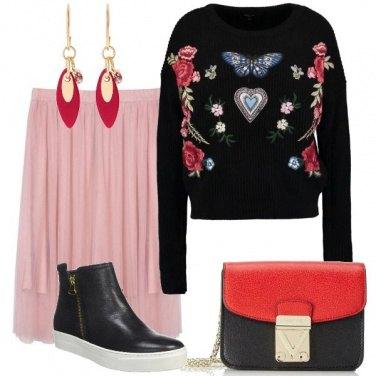 Outfit Fiori farfalle e cuori