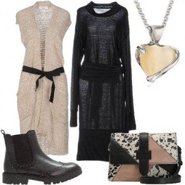 Outfit Cardigan e vestito