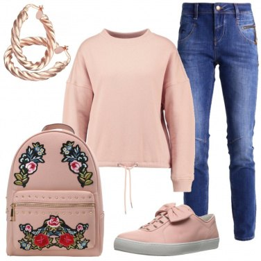 Outfit Comoda in rosa