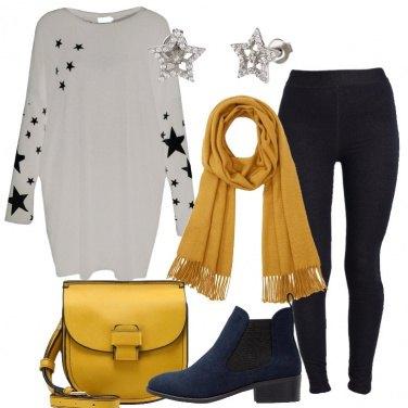 Outfit La maxi felpa grigia