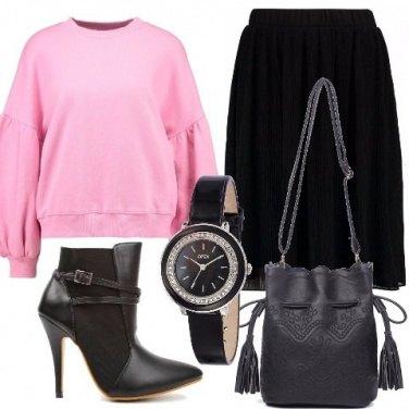 Outfit Amo il rosa
