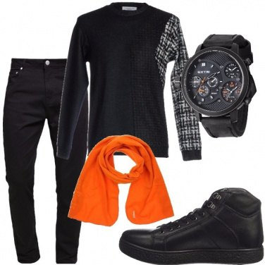 Outfit La sciarpa arancio