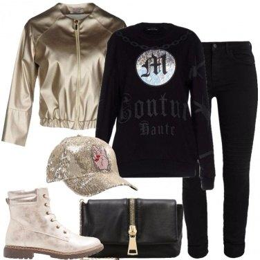 Outfit Il bomber laminato