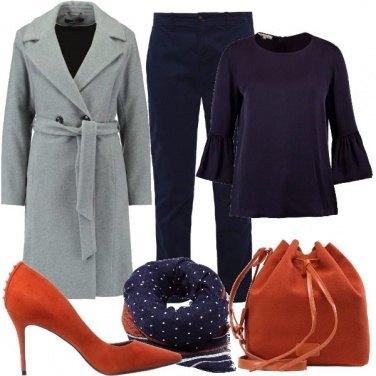 Outfit Sfumature di ruggine e blu