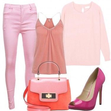 Outfit Con tutto questo rosa