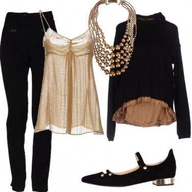 Outfit Nero ed oro