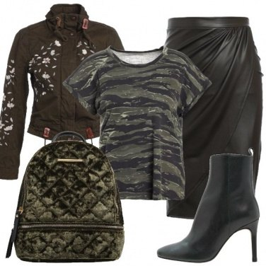 Outfit Pelle militare